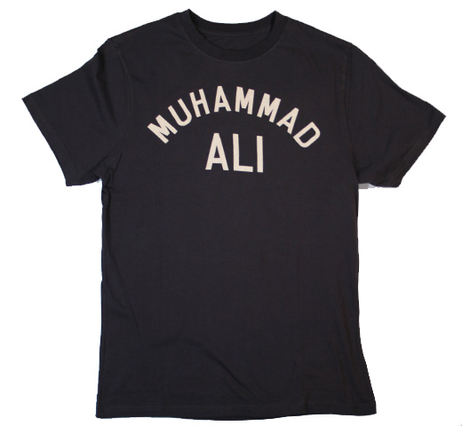 【Worn Free】 Muhammad Ali / Float Like a Butterfly Sting Like a Bee Tee (Black)