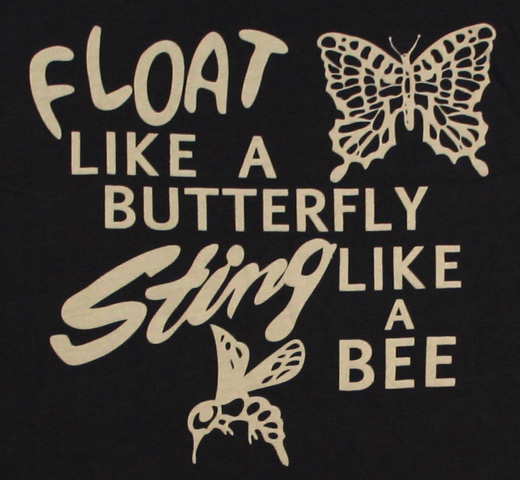 【Worn Free】 Muhammad Ali / Float Like a Butterfly Sting Like a Bee Tank Top (Black) (Womens)