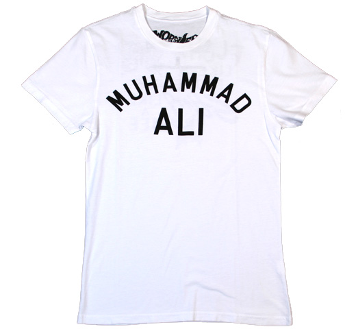 【Worn Free】 Muhammad Ali / Float Like a Butterfly Sting Like a Bee Tee (White)