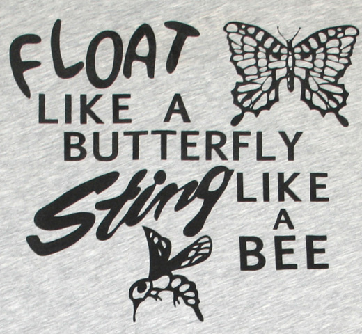【Worn Free】 Muhammad Ali / Float Like a Butterfly Sting Like a Bee Tee (Heather)