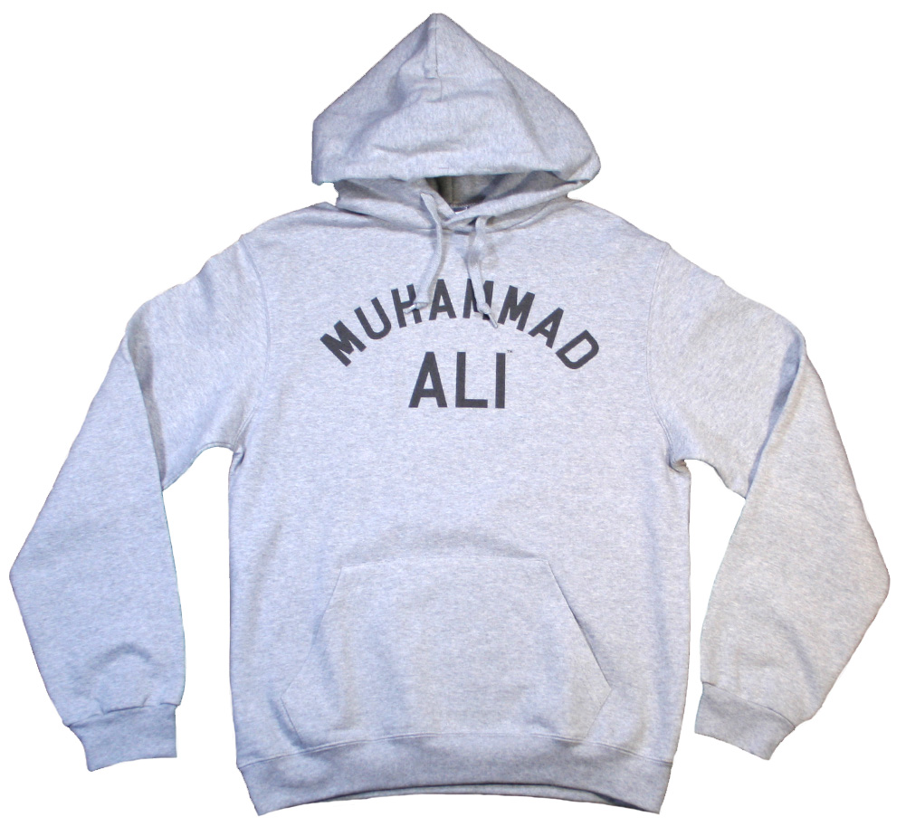 【Worn Free】 Muhammad Ali / Float Like a Butterfly Sting Like a Bee Hoodie (Heather Grey)