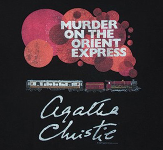 【Out of Print】 Agatha Christie / Murder on the Orient Express Scoop Neck Tee (Black) (Womens)