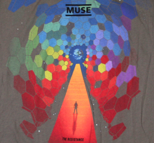 Muse / Bleach Cover Juniors Tee (Grey) (Womens)