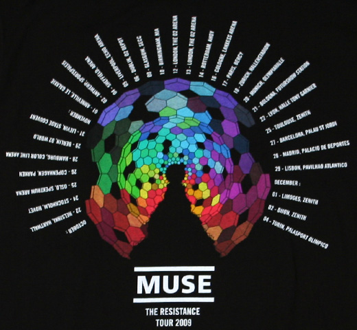 Muse / Hexagon Logo The Resistance Tour 2009 Tee (Womens)