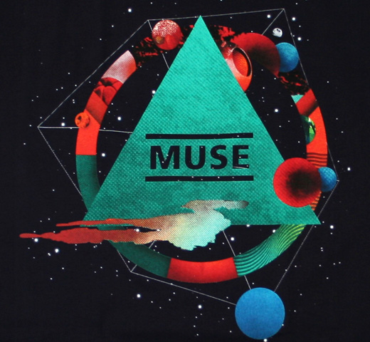 Muse / Pyramid Logo The Resistance Tour 2009 Tee (Dark Navy)
