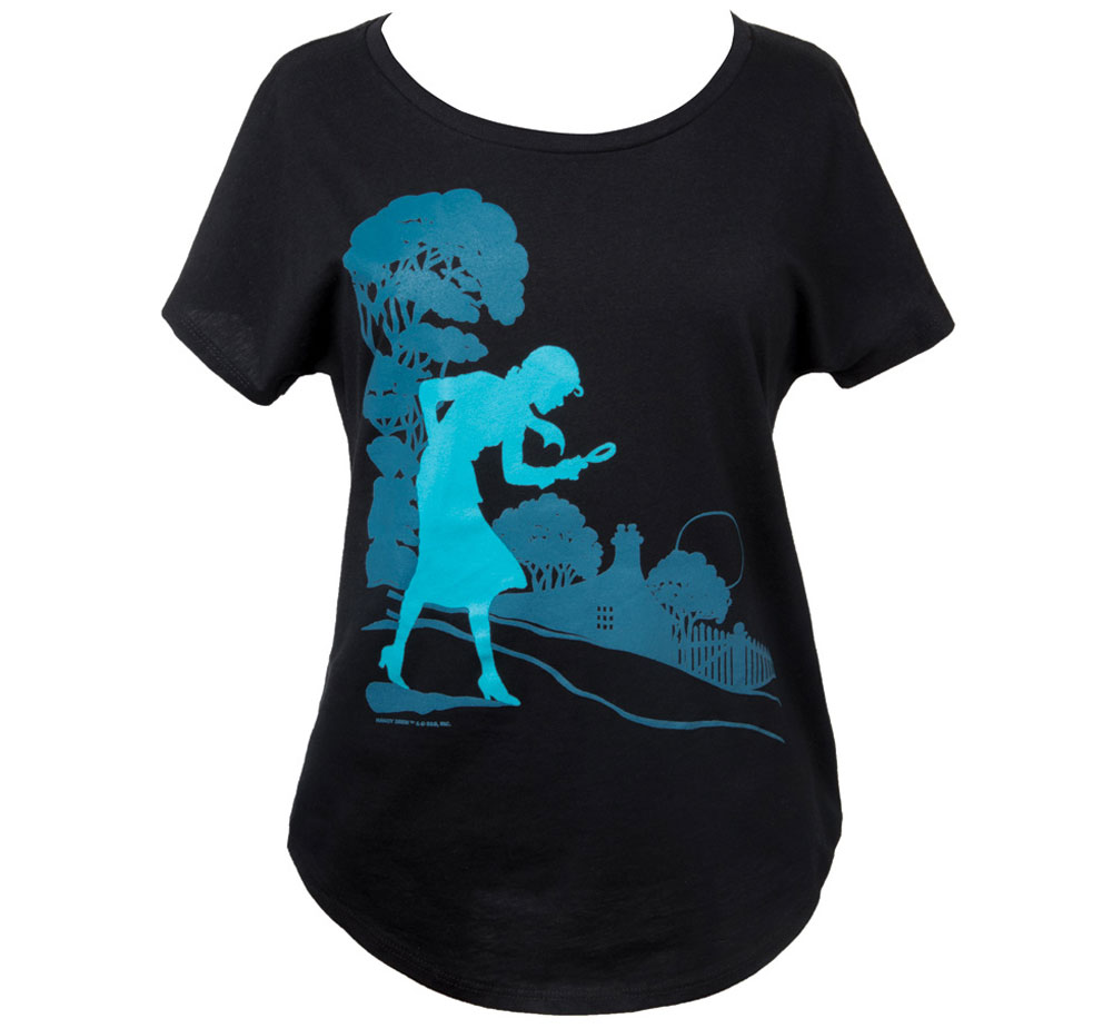 [Out of Print] Carolyn Keene / Nancy Drew Relaxed Fit Tee (Midnight Navy) (Womens)