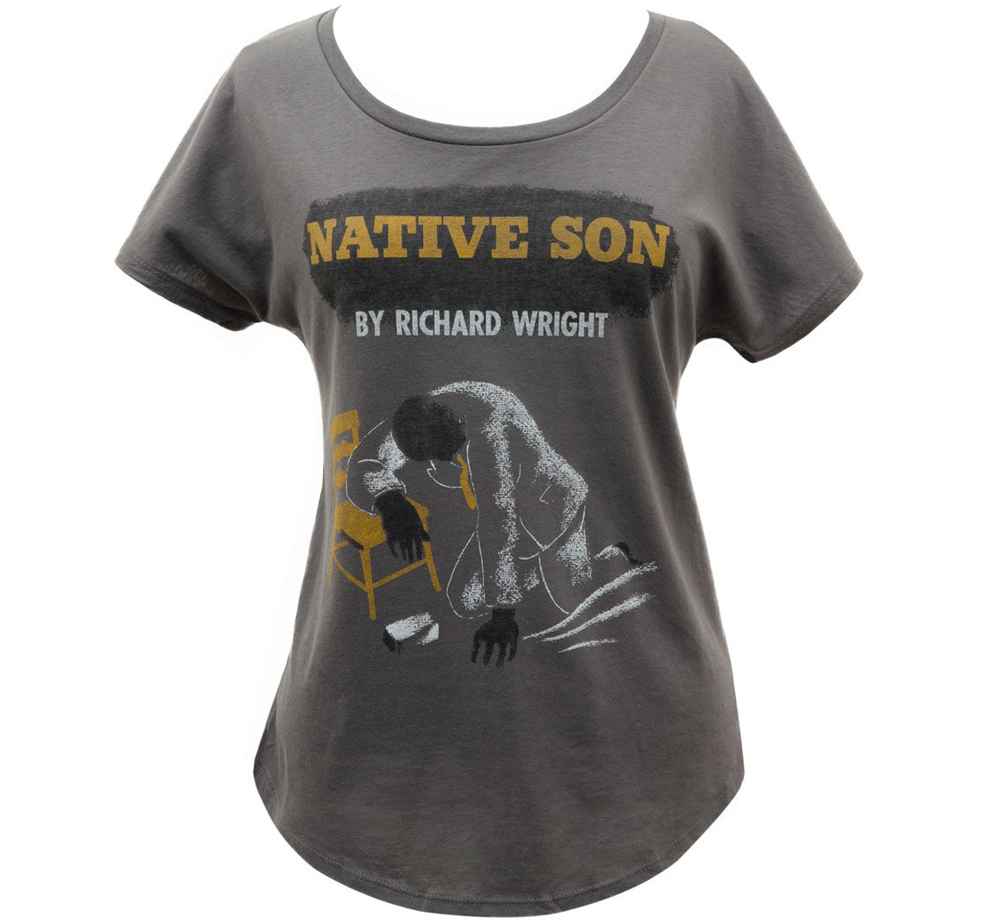 [Out of Print] Richard Wright / Native Son Relaxed Fit Tee (Dark Grey) (Womens)