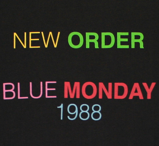 【Worn By】 New Order / Blue Monday 1988 Tee 2 (Vintage Black)