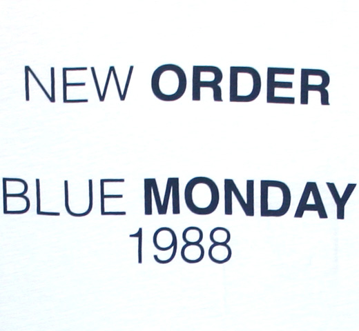 【Worn By】 New Order / Blue Monday 1988 Tee 2 (White)