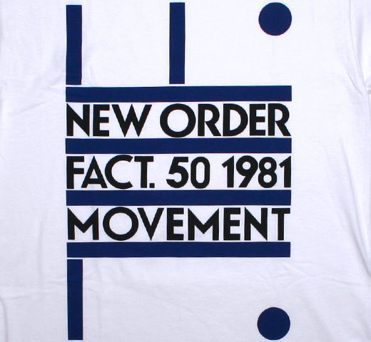 New Order / Movement Tee (White)