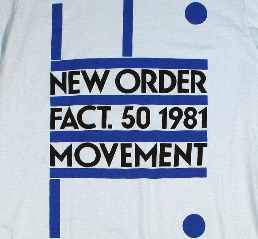 New Order / Fact. 50 1981 Tee (Powder Blue)
