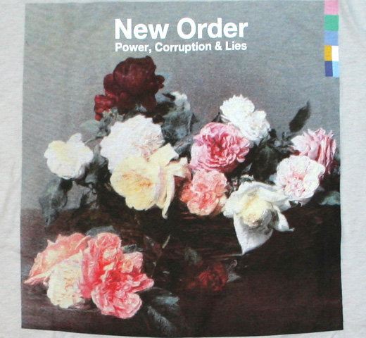 New Order / Power, Corruption & Lies Tee (Silver)