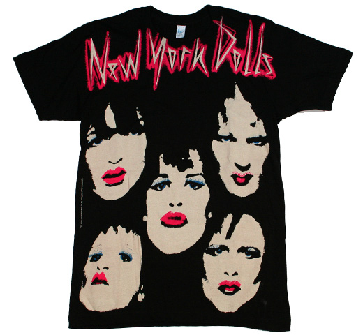 New York Dolls / 5 Faces Big Print Tee