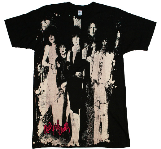New York Dolls / Group Big Print Tee