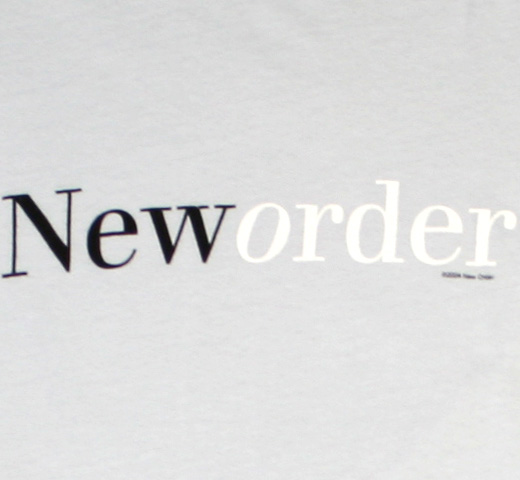 New Order / New Order Tee (Silver Gray)