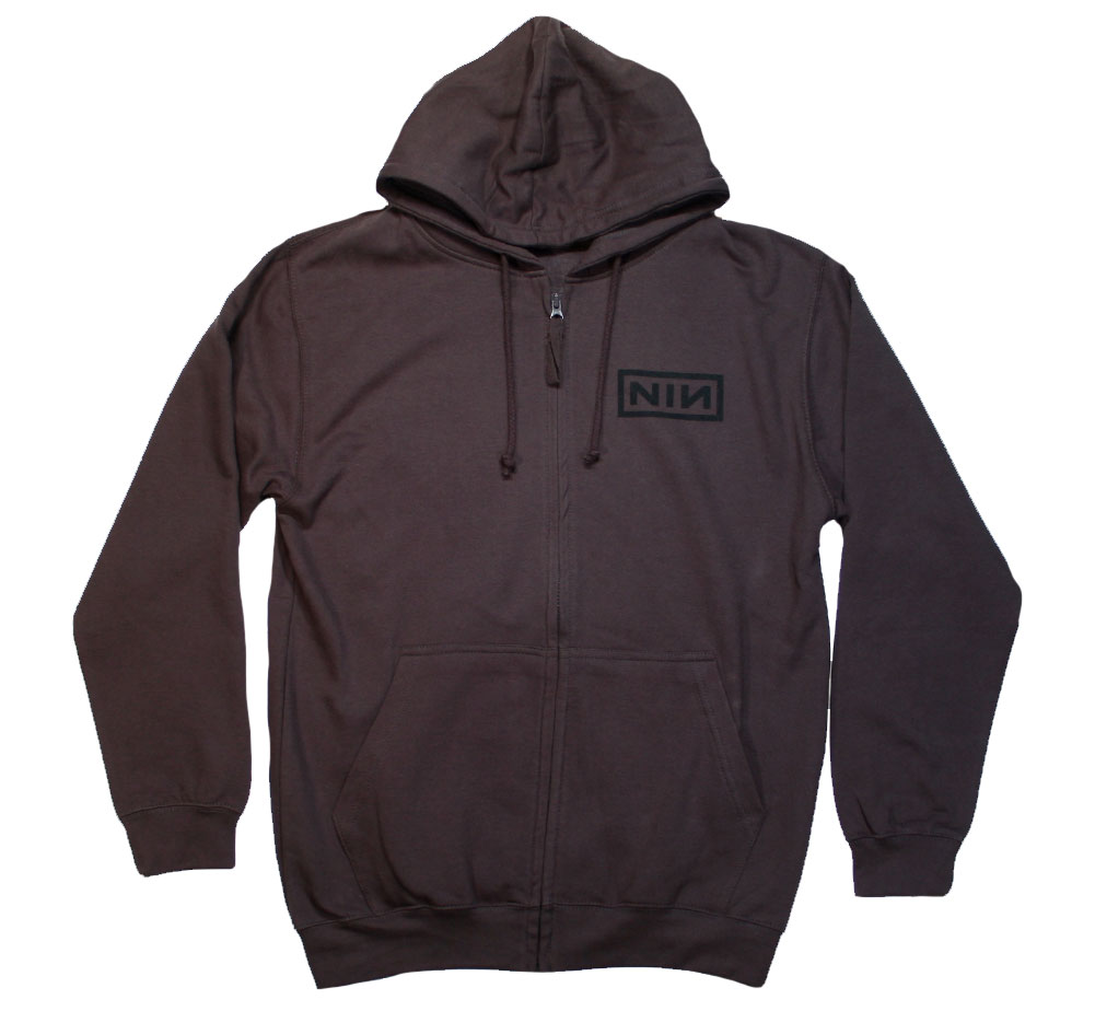 Nine Inch Nails / Classic Black Logo Zip Hoodie (Charcoal)