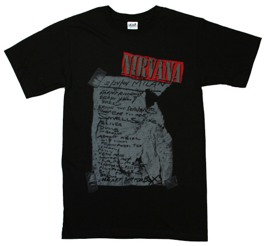 Nirvana / Milan Set List Tee (Black)