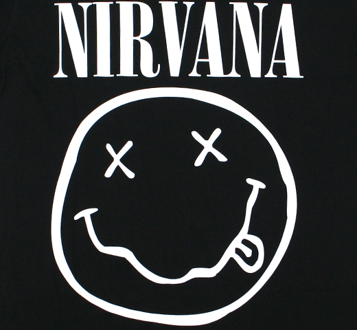 Nirvana / Smile Tee 2 (Black)