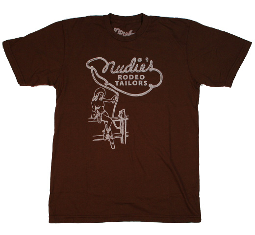 【Worn Free】 Nudie Cohen / Nudie's Rodeo Tailors Tee (Brown)