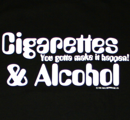 Oasis / Cigarettes & Alcohol Tee (Black)