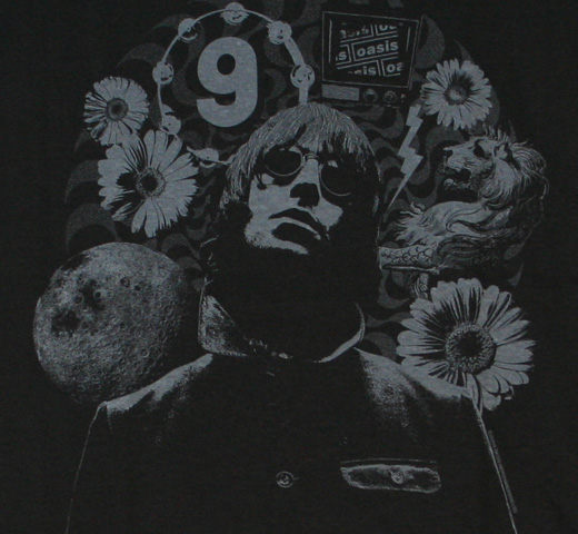 Oasis / Dig Out Your Soul Tee (Black, Liam Gallagher)