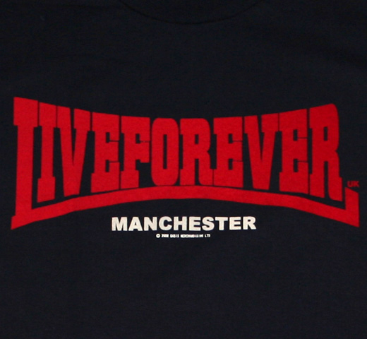 Oasis / Live Forever Tee (Navy)