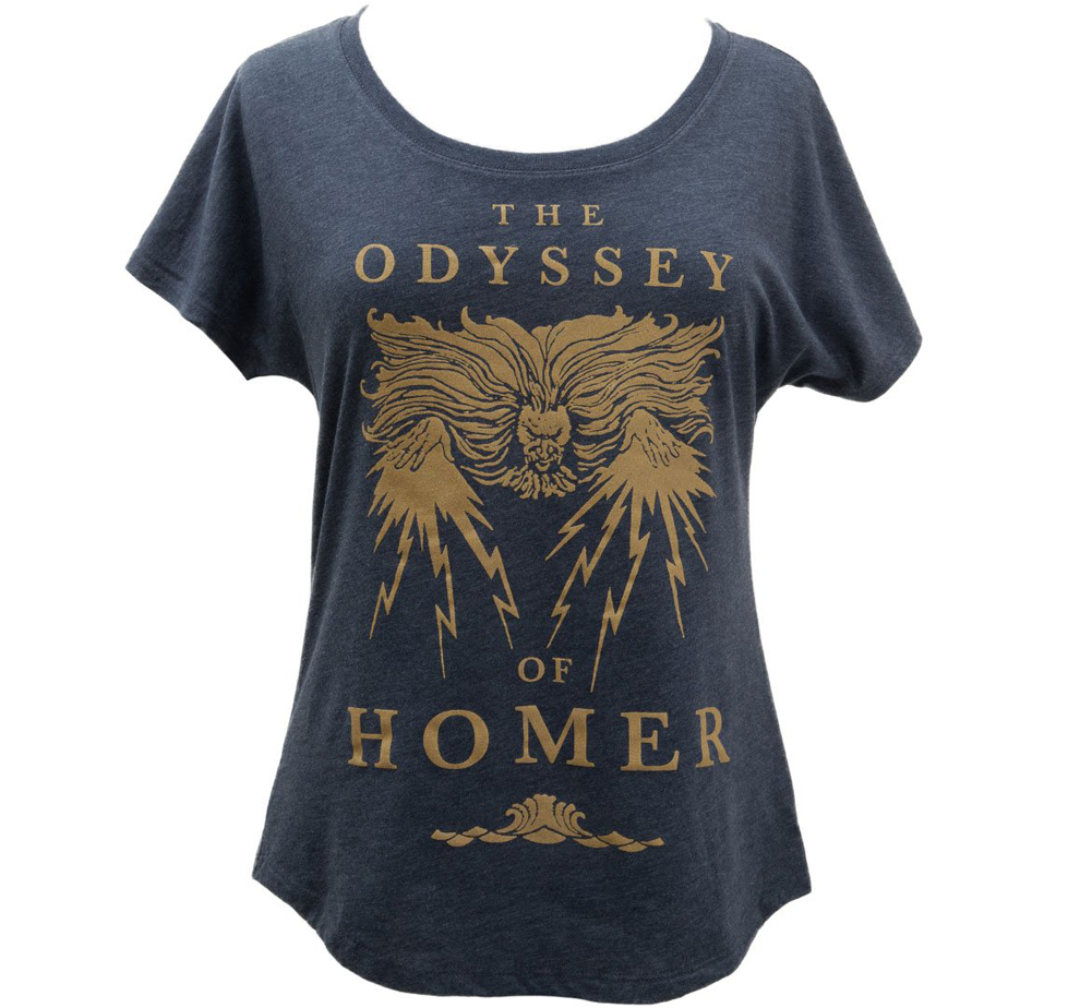 [Out of Print] Homer / The Odyssey Womens Relaxed Fit Tee [Gilded] (Vintage Navy)