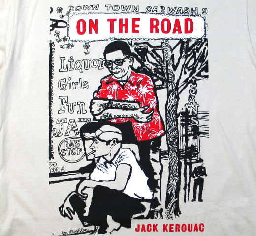 【Out of Print】 Jack Kerouac / On The Road Tee (Cream)