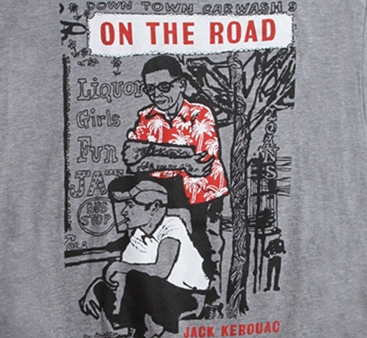 [Out of Print] Jack Kerouac / On The Road Tee (Grey)