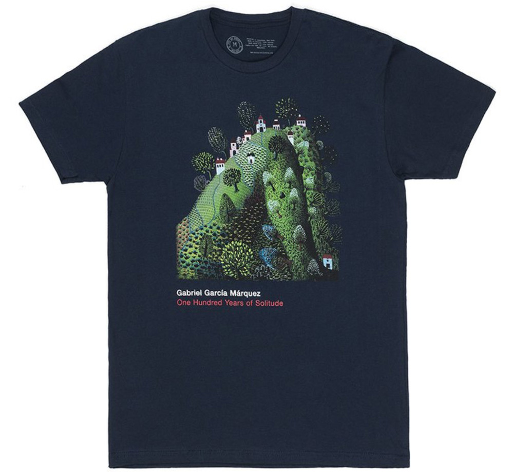 【Out of Print】 Gabriel García Márquez / One Hundred Years of Solitude Tee (Navy)