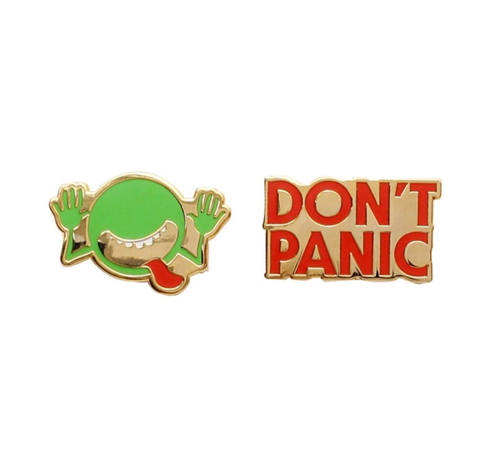 【Out of Print】 Douglas Adams / The Hitchhiker's Guide to the Galaxy Enamel Pin Set