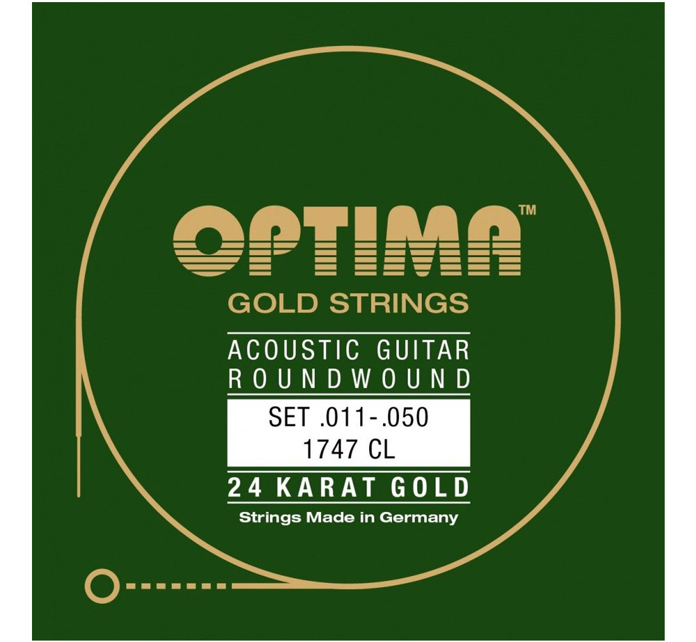 [OPTIMA] 24K Gold Strings (1747 CL) (.011-.050)
