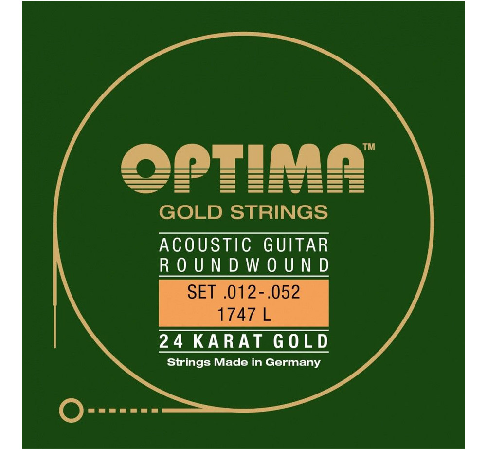 【OPTIMA】 24K Gold Strings [1747 L] (.012-.052)