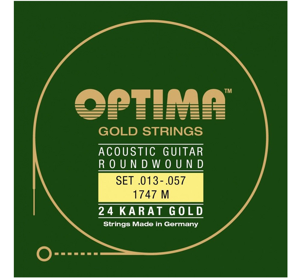 【OPTIMA】 24K Gold Strings [1747 M] (.013-.057)