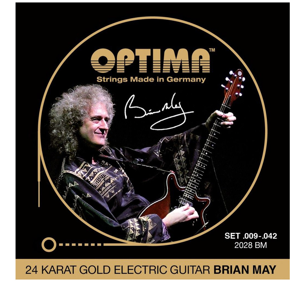 [OPTIMA] BRIAN MAY Gold Strings [2028 BM] (.009-.042)