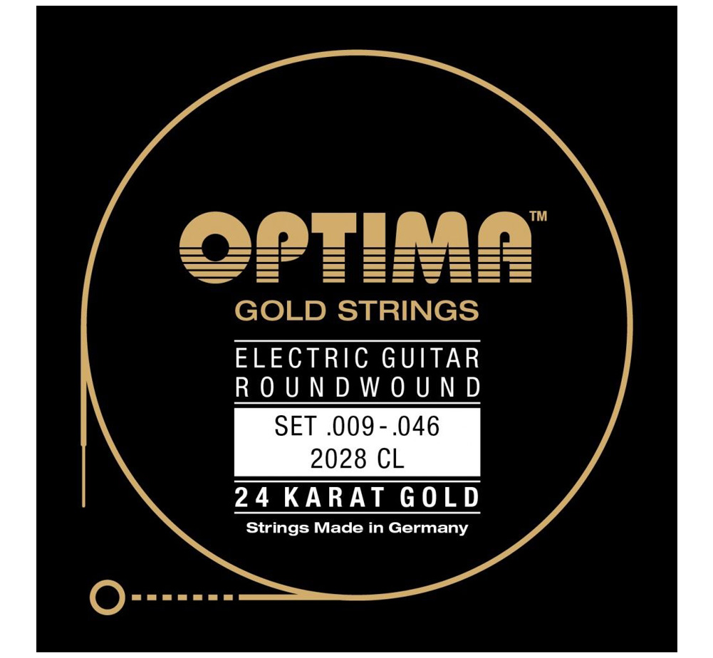 【OPTIMA】 24K Gold Strings [2028 CL] (.009-.046)