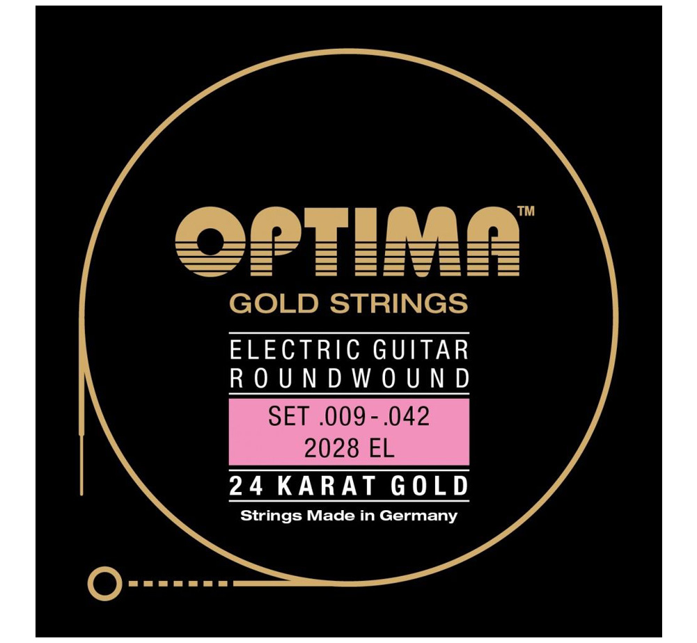 [OPTIMA] 24K Gold Strings (2028 EL) (.009-.042)