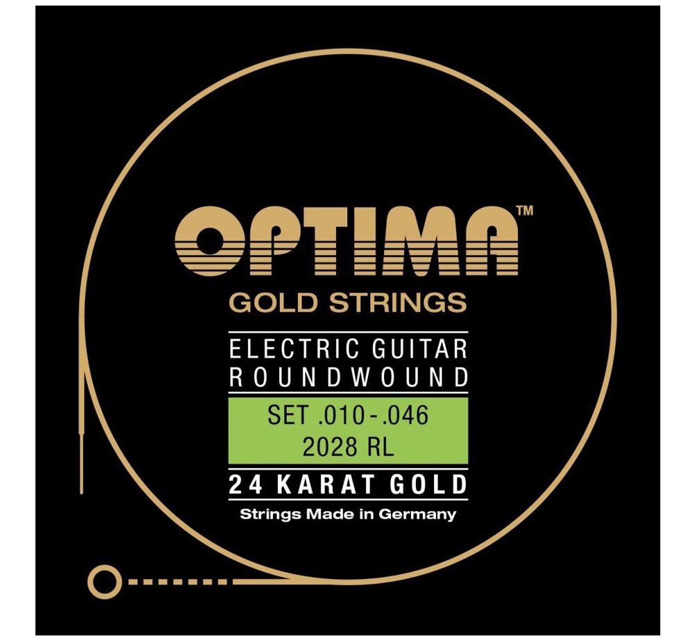 【OPTIMA】 24K Gold Strings [2028 RL] (.010-.046)