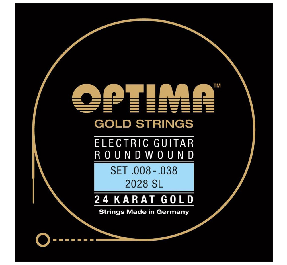 【OPTIMA】 24K Gold Strings [2028 SL] (.008-.038)
