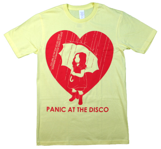 Panic At The Disco / Raindrops Tee (Yellow)