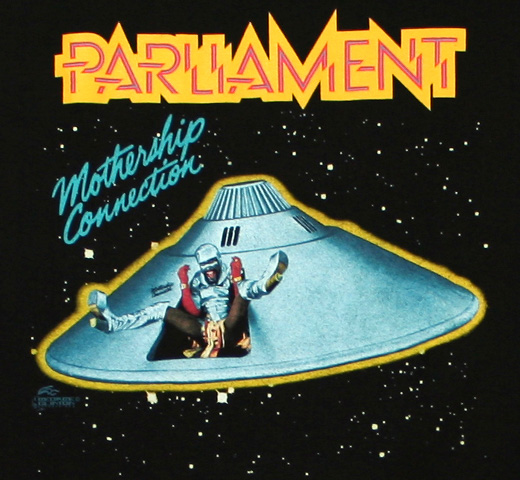 Parliament / Mothership Connection Tee (Black)