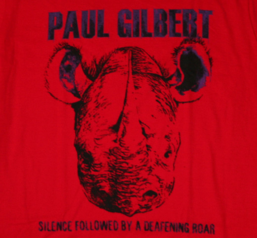 Paul Gilbert / Silence Followed by a Deafening Roar Tee (Red)