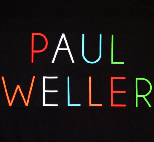 Paul Weller / Multicolour Logo Tee (Black)
