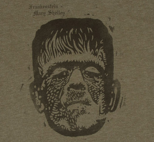 [Out of Print] Mary Wollstonecraft Shelley / Frankenstein Tee [Penguin Horror] (Green)