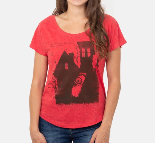 [Out of Print] Shirley Jackson / The Haunting Of Hill House Relaxed Fit Tee [Penguin Horror] (Red) (Womens)