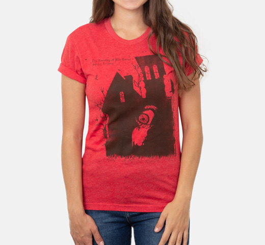 [Out of Print] Shirley Jackson / The Haunting Of Hill House Tee [Penguin Horror] (Vintage Red)