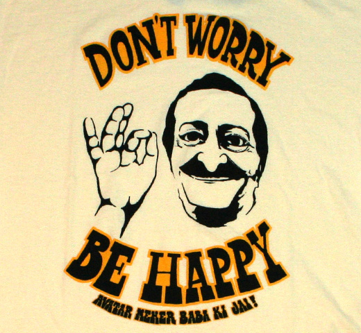 【Worn Free】 Avatar Meher Baba / Don't Worry Be Happy (Meher Baba) Tee