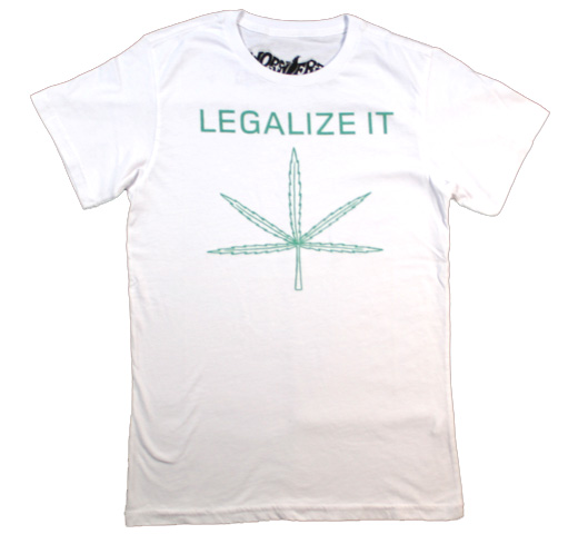 【Worn Free】 Peter Tosh / Legalize It Tee (White)