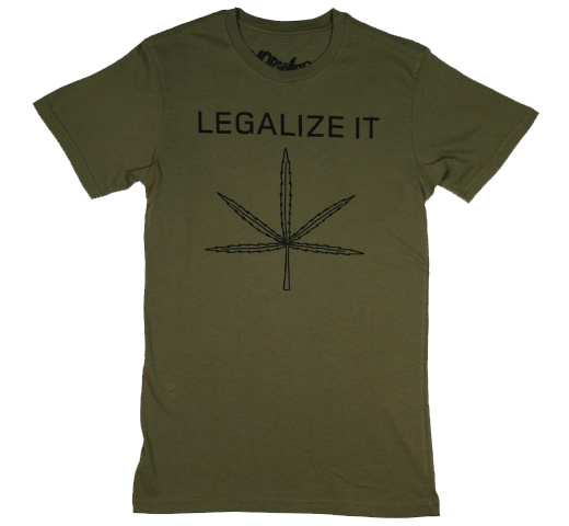 【Worn Free】 Peter Tosh / Legalize It Tee (Olive Drab)