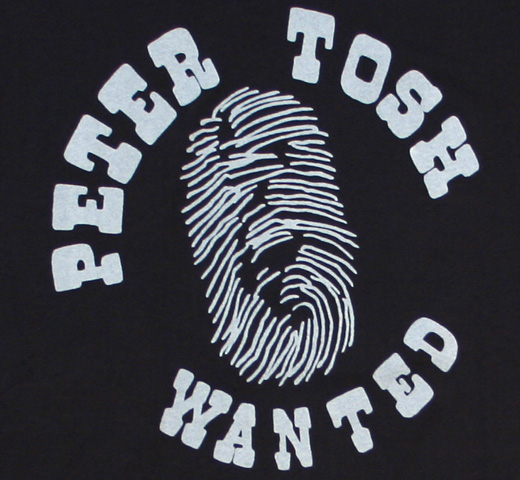 【Worn Free】 Peter Tosh / Wanted Tee (Black)